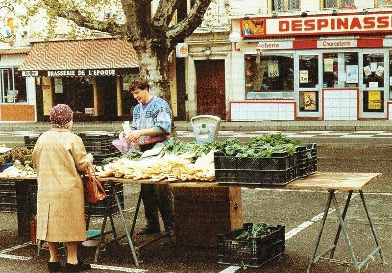 marché, cp postée en mai 1991