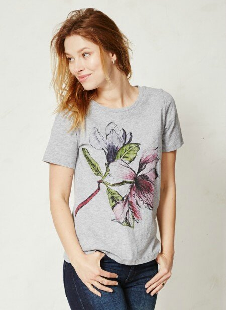 t-shirt fleur-organic-cotton