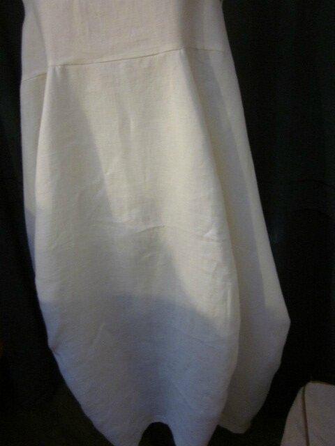 Robe EPONINE en lin blanc cassé (4)