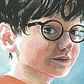 Des illustrations de jim kay dans une nouvelle édition de harry potter