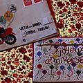 Les enveloppes et cartes brodées (envoyées) de la Dame