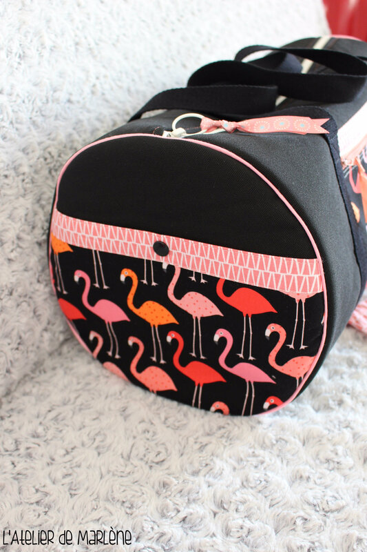 poche du sac flamands roses