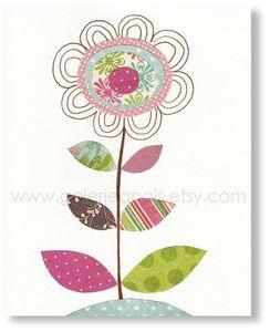 fleur feuilles