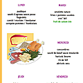 Menus des repas scolaires du 11 au 15 juin 2012