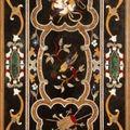 Trois plateaux en en marqueterie de marbres. italie. xixe siècle