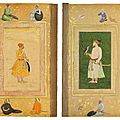 Two previously unrecorded folios from the late shah jahan album