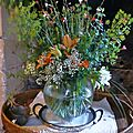 Bouquet de fenouil et de gaura blanc