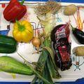Fruits et légumes.../ inès souffle ses 4 bougies!