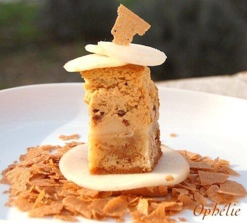Mi-croquant Mi-moelleux au Caramel Snickers et Poires
