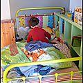 La chambre du galet: le lit
