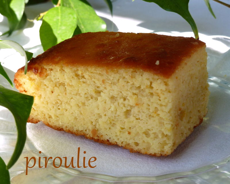 Gateau sans gluten orange