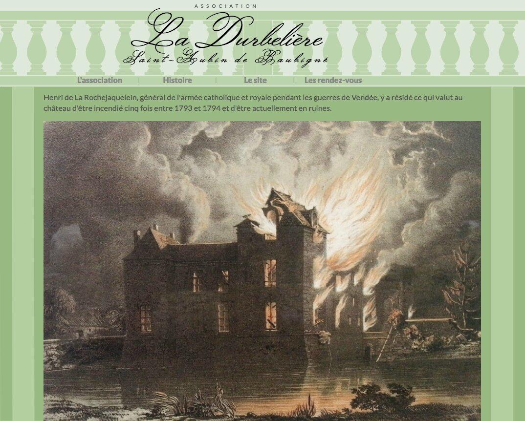 L'association « La Durbelière » sur le web