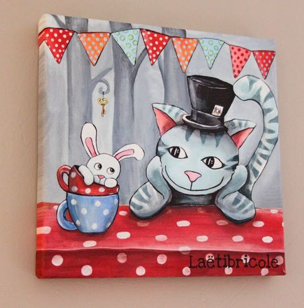 toile chat d'Alice