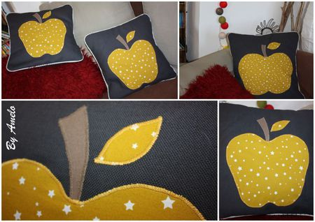 Coussins Pomme Montage