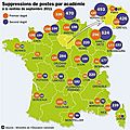Carte nationale des suppressions de postes