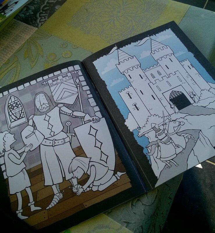 coloriage châteaux et chevaliers