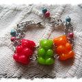 Bracelet manchette oursons acidulés