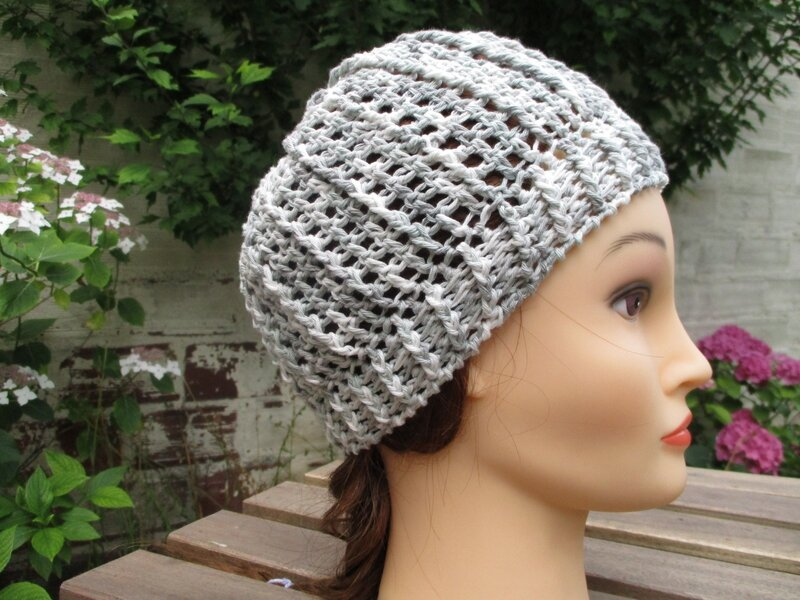Bonnet simple en fil coton (3)