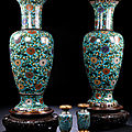A pair of large vases for a palace . china, 17th century