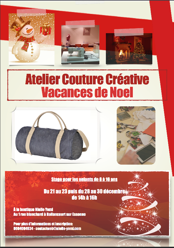 Affiche stage couture noel PNG
