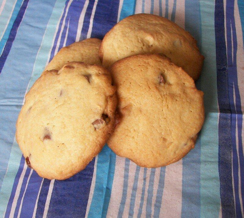 Cookies aux chunks chocolat au lait et chocolat blanc