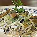 Salade de chou-rave lacto-fermenté au hareng fumé