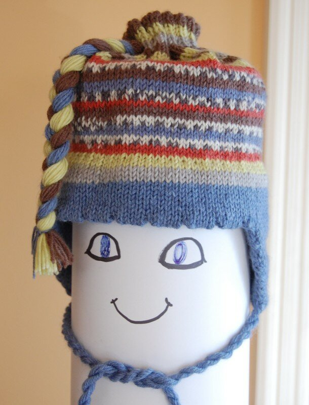 Tuque tricotée avec de la confetti
