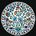 An iznik polychrome pottery dish, turkey, circa 1560