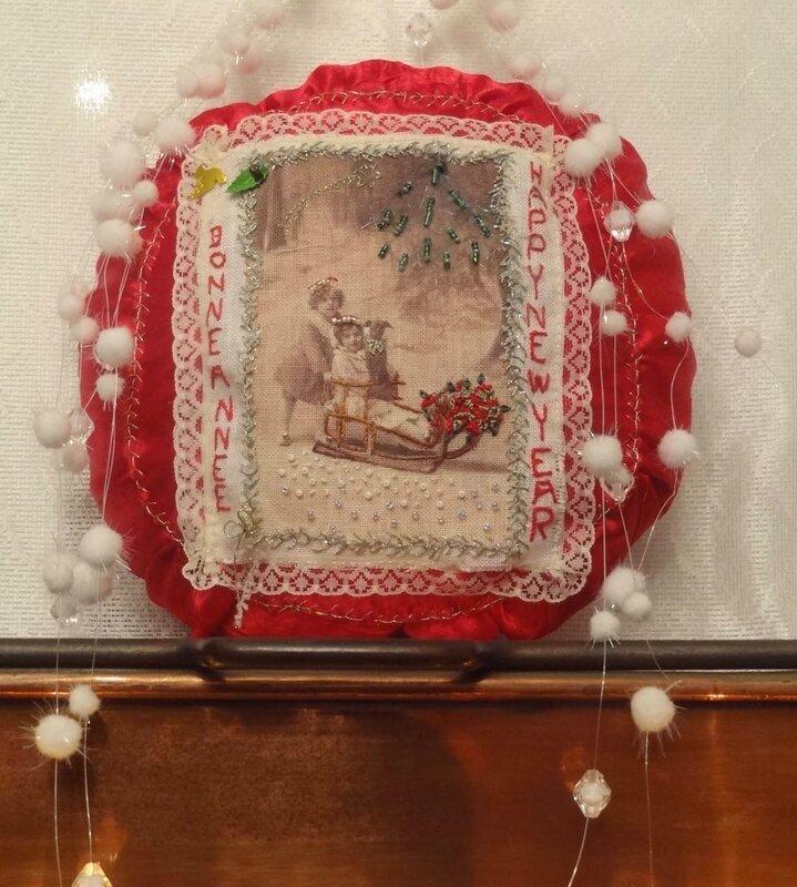 tableau textile NOEL