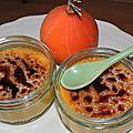 Une crème brûlée d'automne, blé noir et potimarron
