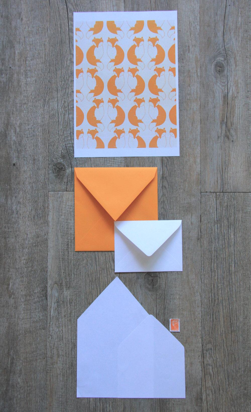 Très Décorer une enveloppe avec des motifs d'automne : renards, hiboux  GV57