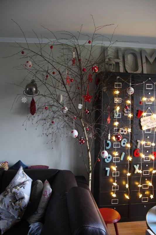 decoration de noel en bois de bouleau. Black Bedroom Furniture Sets. Home Design Ideas