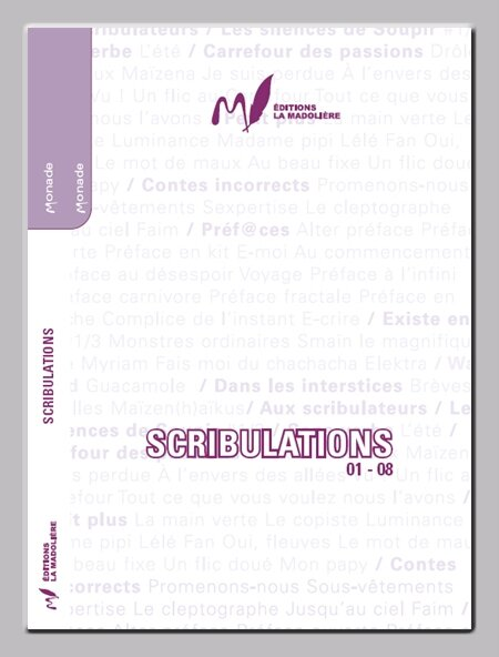 SCRIBULATIONS N° 01-08 COUVERTURE