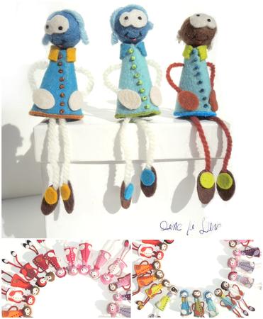 broche_ fantaisie_ bijoux feutrine_bijoux laine_collection bleue_damelalune_shop
