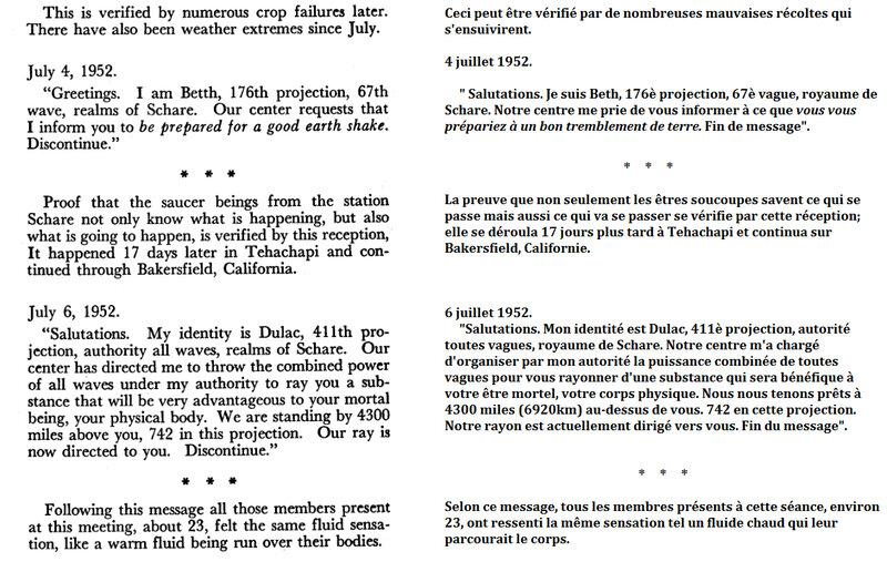 Message du 4 au 6 juillet 1952