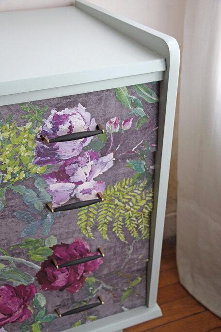 commode-vintage--fleurs-poignees
