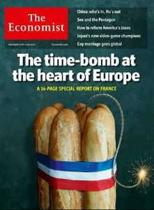 The Economist cover FranCE time bom of europe