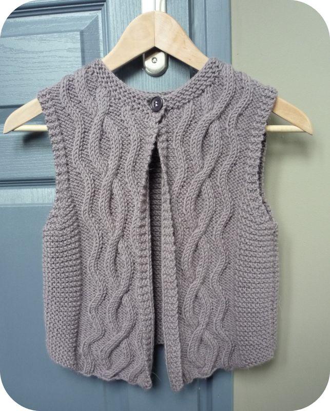 tricoter un gilet fille 10 ans
