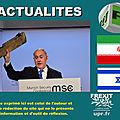 «ne testez pas la détermination d'israël !», netanyahou met l'iran en garde