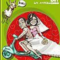 Faire-part mariage bd bande dessinée chili italie