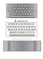machine a ecrire clavier