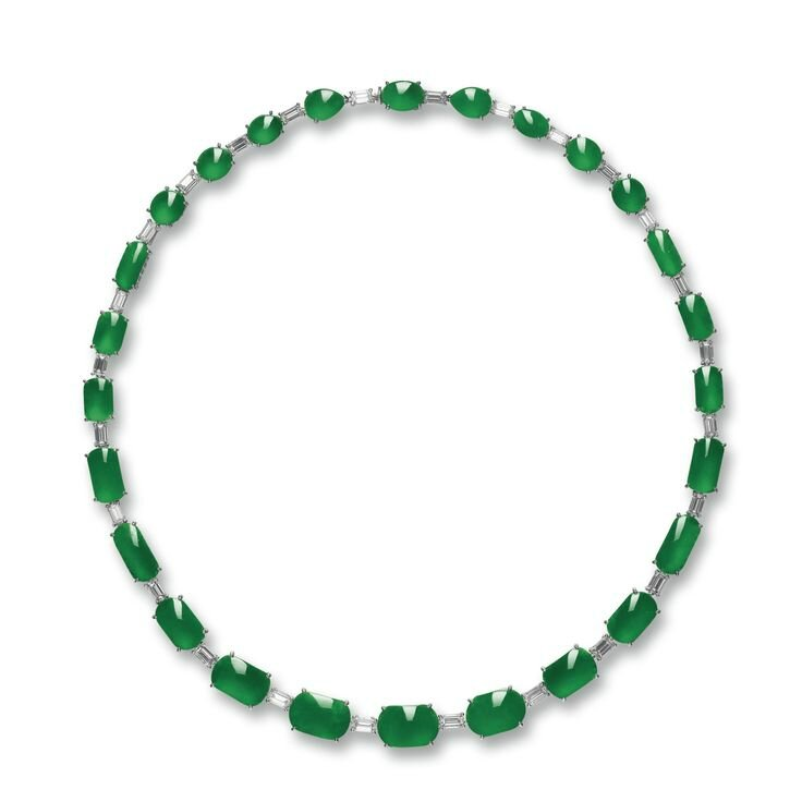 Jadeite and Diamond Necklace