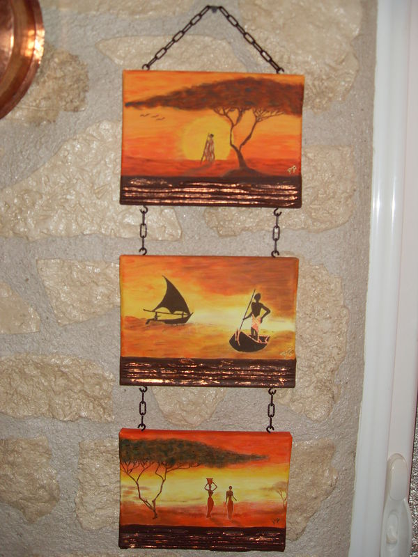 Tableau africain ma passion mes tableaux ma th rapie for Peinture chambre style africain