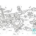 Océan - épave de bateau