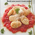 Gnocchis maison, concass de tomates au parmesan