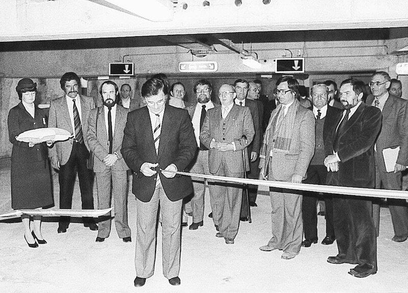 Le 15 avril 1981 Claude Lamblin inaugure le parking