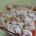 Crumble pommes / fraises coco