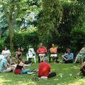 Les conférences se sont déroulées sous les arbres dans un cadre magnifique !