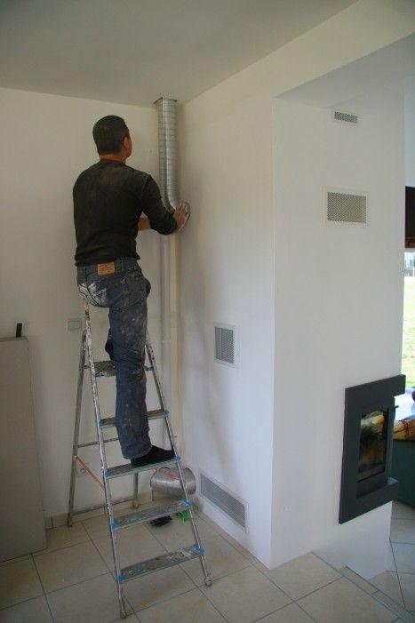 Les travaux continuent evolution de notre maison - Kit arrivee air frais ...