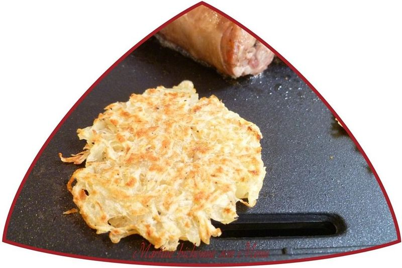 Paillassons de pommes de terre la plancha martine bichonne son menu - Accompagnement andouillette grillee ...